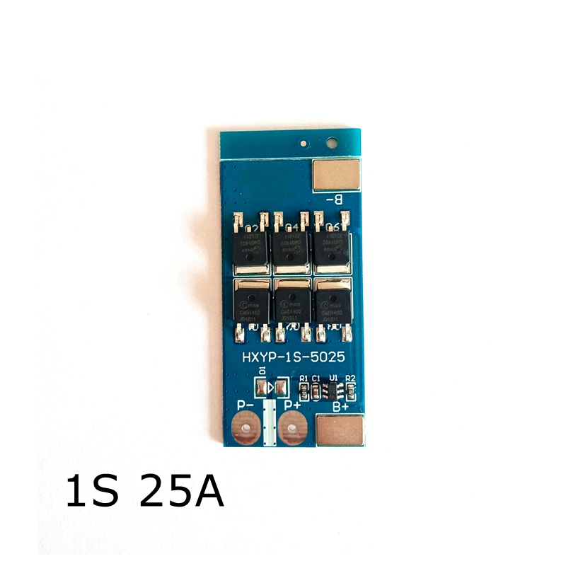 New Arrival 1S 25A BMS 3.2V Lithium Iron Phosphate Battery Lithium Battery Charing Board Protection Board Single Battery 3.7V