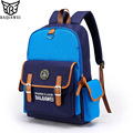 BAIJIAWEI 2017 Design Kids Backpack High Quality School Bags In Primary College Style Backpack for Children Waterproof Backpacks