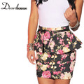 Dear lover Spring 2017 Multi-Color Floral Print Mini Skirt women Peplum Pencil Skirt saias femininas saias femininas Clearance