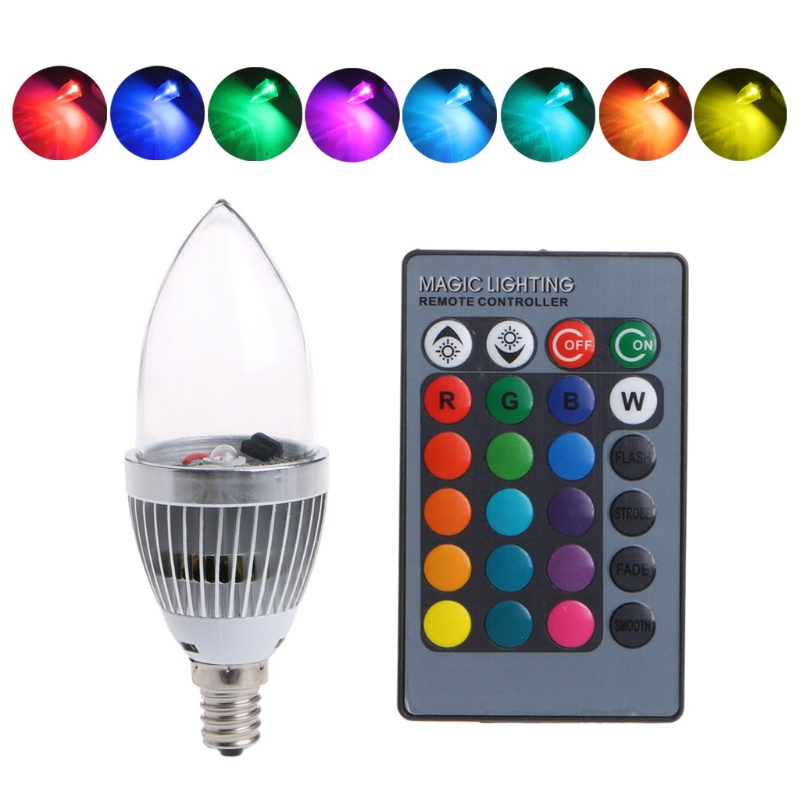 Lights & Lighting Led Bulbs & Tubes E12 3w Rgb Led 15 Colors Changing Candle Light Bulb Lamp W/remote Control Ac85-265v L15 Buy Now