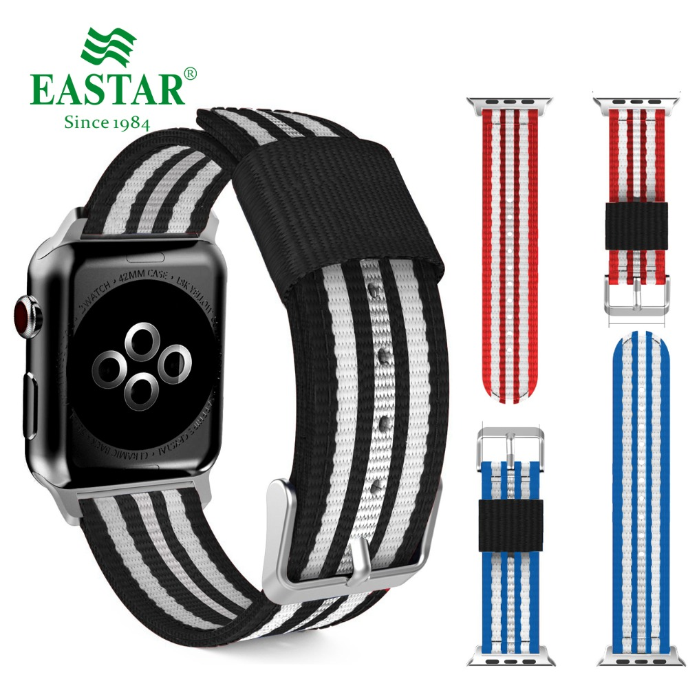 Eastar Colorful Nylon Watchband for Apple Watch Band Series 3/2/1 Sport Leather Bracelet 42 mm 38 mm Strap For iwatch Band