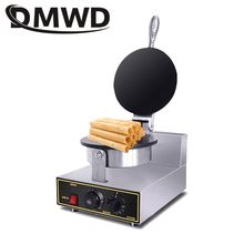 DMWD 110V/220V Electric Ice Cream Cone Maker Cone Baking Pan Machine Crepe Crispy egg Roll Baker Waffle cake Bakeware EU US plug
