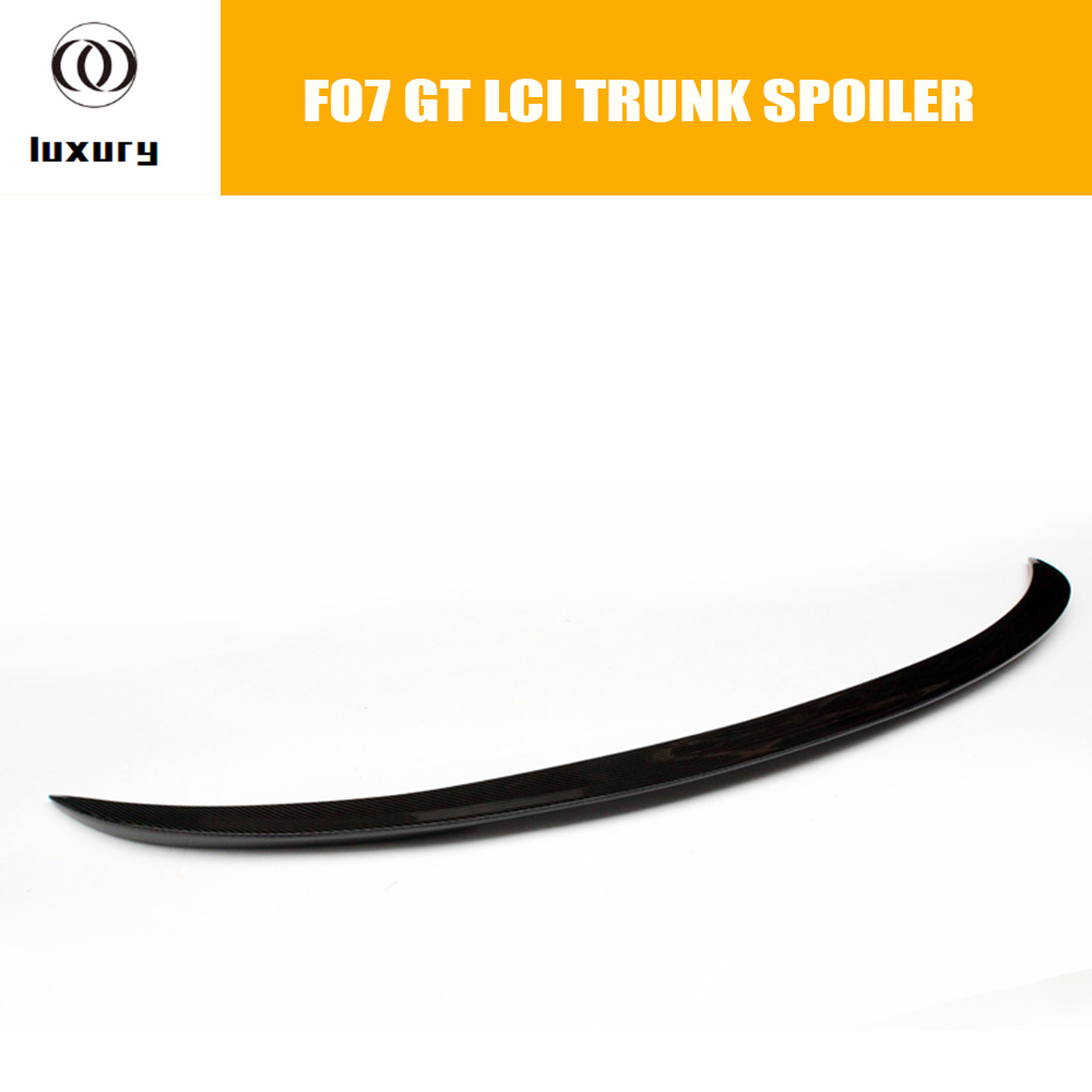 F07 M Performance Style Carbon Fiber Rear Spoiler Wing for BMW F07 535i 550i 530d 535d GT LCI 2014 2015 2016 P Style