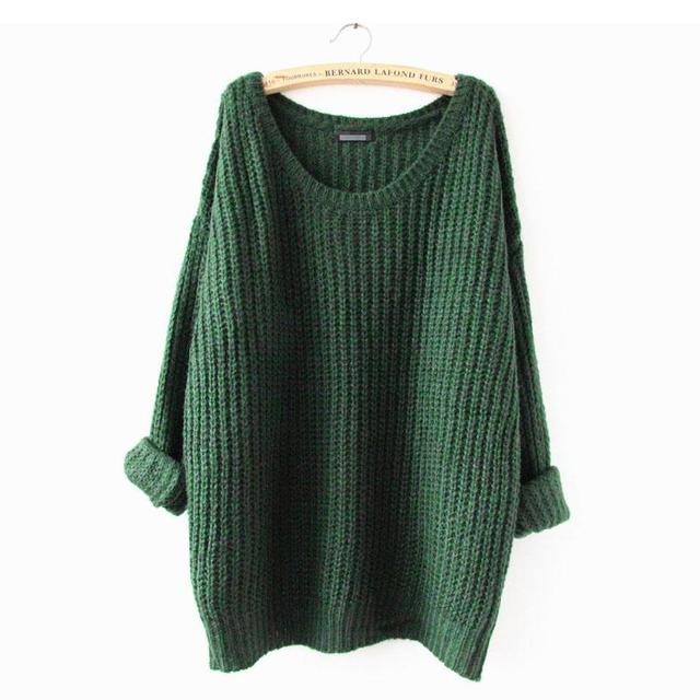 Spring and Autumn Long  Large Size Loose Sweater Round Neck Hedging Thin Solid Thin Sweater Bottoming Shirt