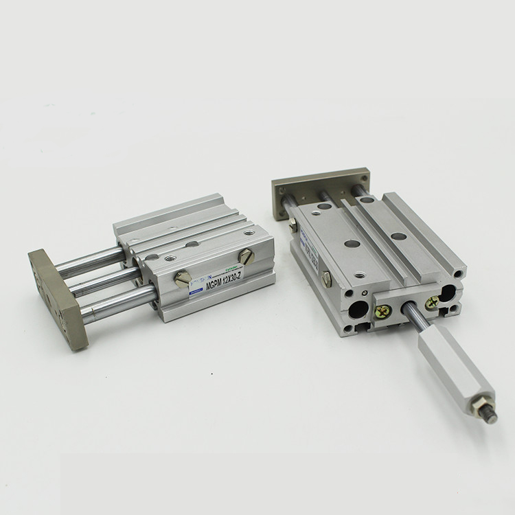 MGPMJ Pneumatique Cylindre 3 Tige Réglable Cylindre MGPMJ12-125-100 MGPMJ12-150-100 MGPMJ12-175-100 MGPMJ12-200-100