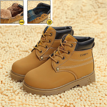 Kids Winter Snow Boots Children Leather Martin Baby Boys & Girls Rubber Boots 2016 Fashion Plush Thick Warm