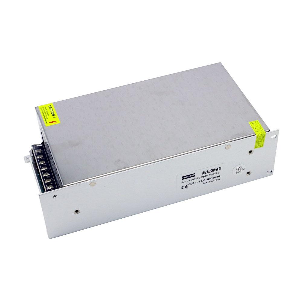 Fuente de alimentación de CA a CC de alta potencia de 1000W fuente de alimentación 48V 20,8 a Fuente de alimentación conmutada de voltaje constante