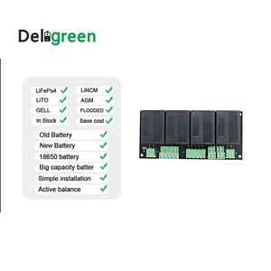 Image 3 - Qnbbm 4S 12 v balanceador ativo bms do equalizador da bateria para lifepo4, lipo, lto, ncm, limn 18650 bloco da bateria de diy