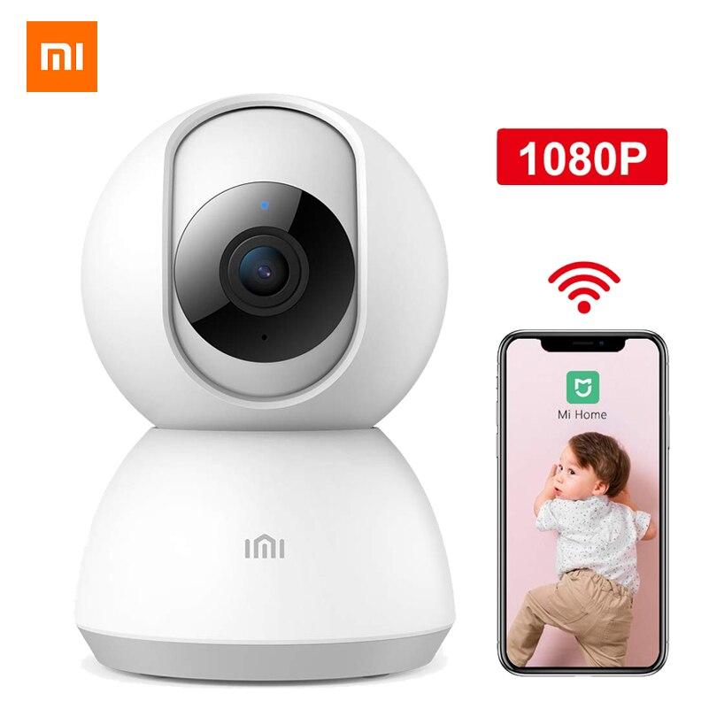 Versão mais recente xiaomi câmera panorâmica 1080 p pan-tilt 360 ângulo câmera de vídeo monitor do bebê wifi voz webcam visão noturna