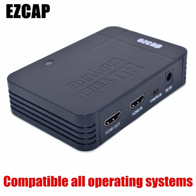 2017 Newest EZCAP HD Game Video Capture 1080P HDMI YPBPR Recorder for XBOX One/360 For PS3 Compatible all operating systems