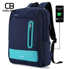 New Casual School Backpack for Teenage Men Women Backpacks Oxford Waterproof Bags External USB Charge Backpack Sports Travel Bag