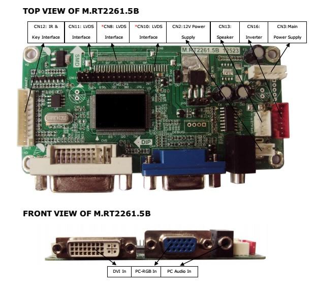 2261V1.0-D universal universal LCD driver board VGA + DVI signal input материнская плата asus h81m r c si h81 socket 1150 2xddr3 2xsata3 1xpci e16x 2xusb3 0 d sub dvi vga glan matx