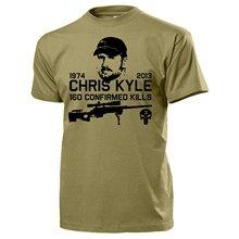 2018 Nova Verão Fresco Camiseta Chris Kyle Americano Texas Herói 160 Kills  Sniper Seal Da Marinha dos Eua No Iraque Exército Crâ.. 1ddc496ab83