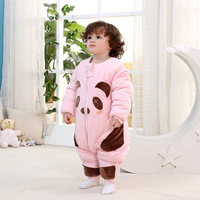 Baby Sleeping Children Barhop Winter Warm Thick Cotton Warm Baby Newborn Anti Kick Was Sleepwear Robes