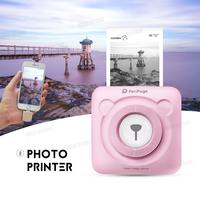 Perpage Mini Bluetooth Paper Photo Printer Pocket Thermal Printing for iOS Android Printer Wireless 58mm Thermal POS Printer