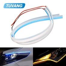 2x Ultrafine DRL Flexible LED Strip Daytime Running Lights Soft Car Headlight Turn Signal Brake font