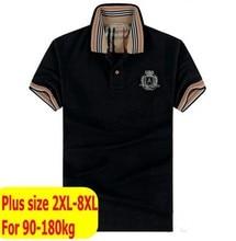 Free shipping plus size bust 155cm 6xl 8xl black mens clothing brand mens t shirts fashion t-shirt men Cotton tshirt big