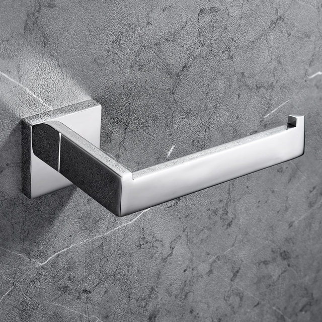SUS 304 Stainless Steel Toilet Paper Holder Bathroom Toilet Roll Holder For Paper Towel Square Bathroom Accessories