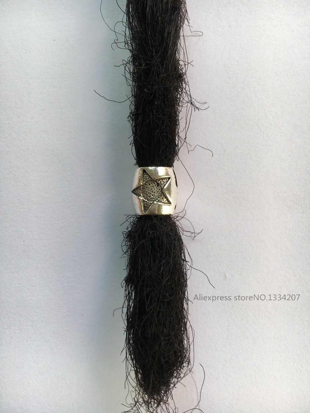 10 шт-20 шт тибетские серебряные волосы оплетка dread дредлок бусины зажимы манжеты около 5,8 мм отверстие