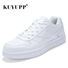 KUYUPP Size35-44 Men Casual Shoes Unisex Mesh Breathable Air Sport Basket Femme Walking Shoes Male Superstar White Trainers Y167