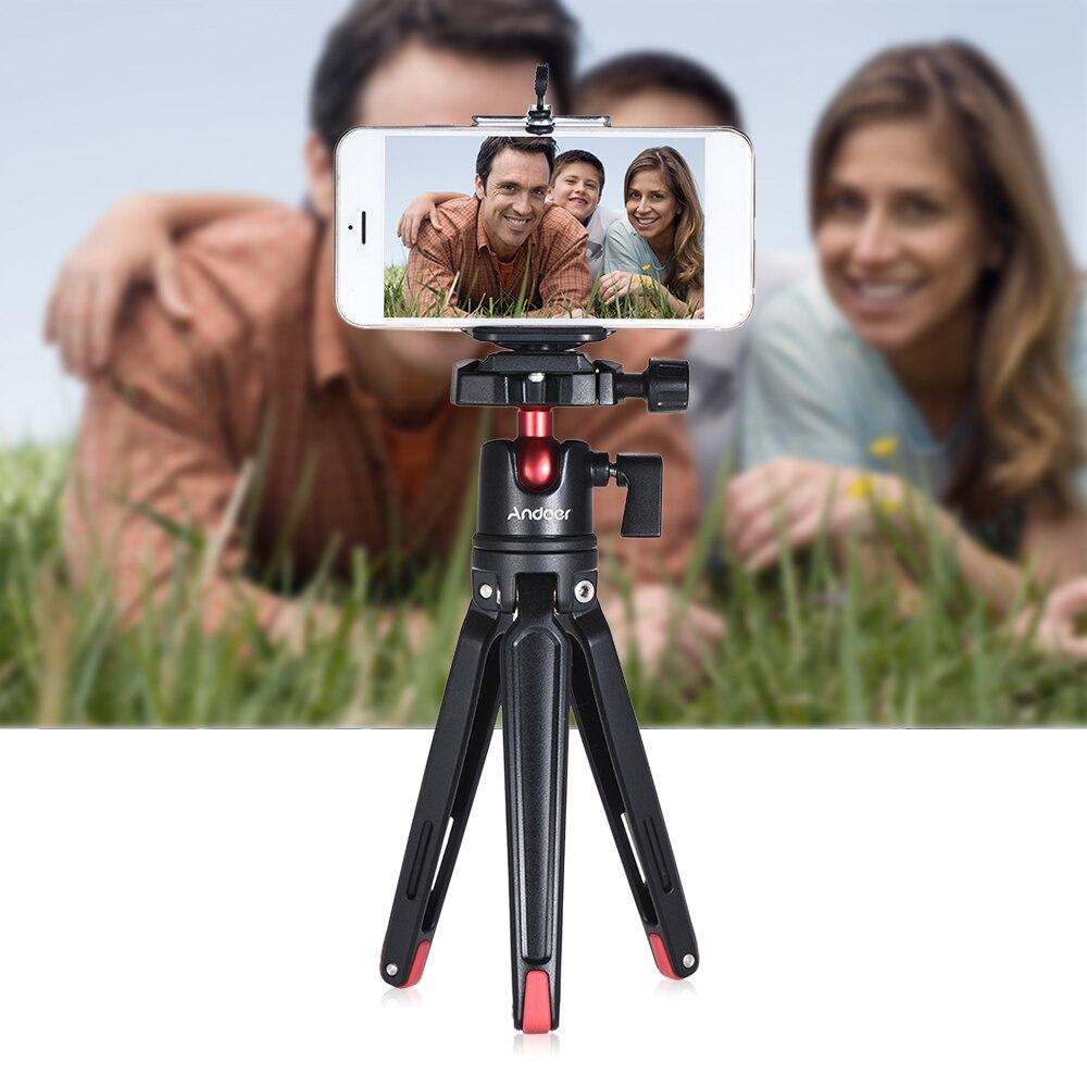 Andoer мини портативный дорожный Настольный Штатив с шаровой головкой для Canon Nikon sony DSLR беззеркальный для смартфона для GoPro 5