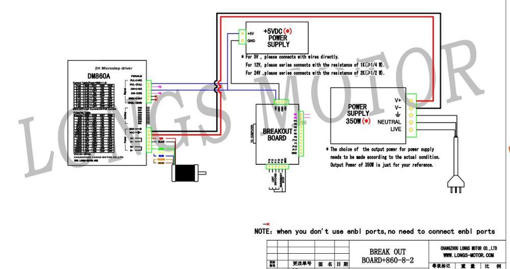 stepper motor nema 34 878oz in 34hst9805 37b2 driver dm860a peak 7 8 rh aliexpress com Motor Control Wiring Diagrams Motor Wiring Drawing