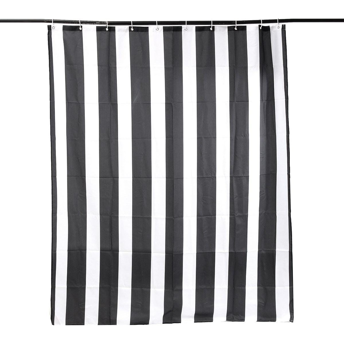 gray striped grey bathroom pin and white light black stripe curtain panama curtains decoration shower