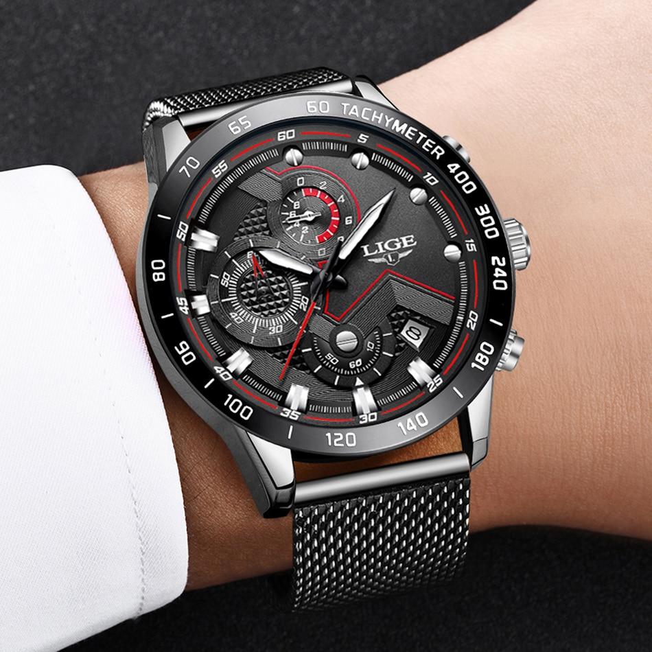 HTB1Mqo4OjTpK1RjSZKPq6y3UpXa3 LIGE Men Watches Top Brand Luxury Stainless Steel Blue Waterproof Quartz Watch Men Fashion Chronograph Male Sport Military Watch