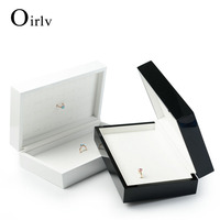 Oirlv Luxury Custom Logo Wooden Jewelry Case For Rings Holder Exhibitor With Slots Counter Shop Ring