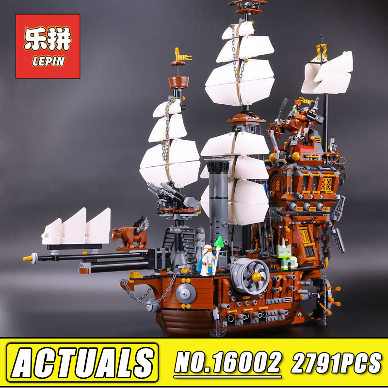 Free Shipping LEPIN 16002 Movie Pirate Ship Metal Beard's Sea Cow 2791PCS Model Building Blocks Bricks Toys Compatible 70810 free shipping lepin 16002 pirate ship metal beard s sea cow model building kits blocks bricks toys compatible with 70810