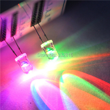 100pcs F5MM 5MM DIP F5 RGB RED,GREEN,BLUE SLOW FLASH light beads 2PINS flash slowly water clear OWEIS Free shipping!