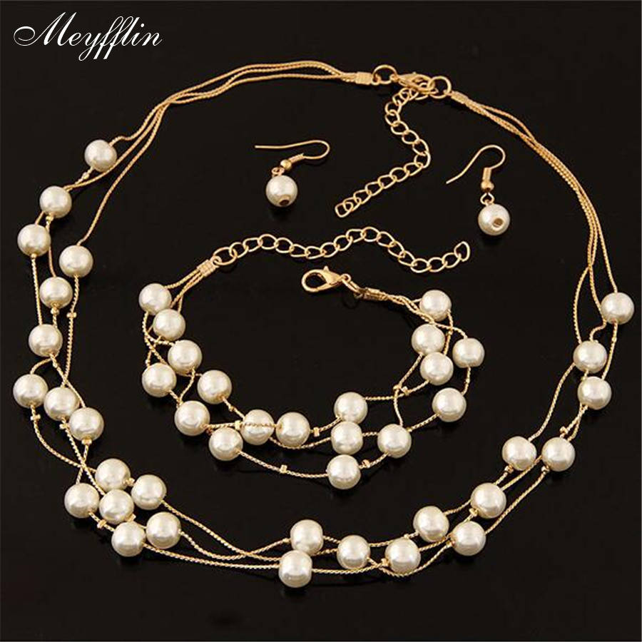 Fashion Simulated Pearl Jewelry Sets fors