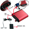 New Generation RED Mini Digital LED Tattoo Power Supply Clip Cord and Foot Pedal Kit FREE SHIPPING