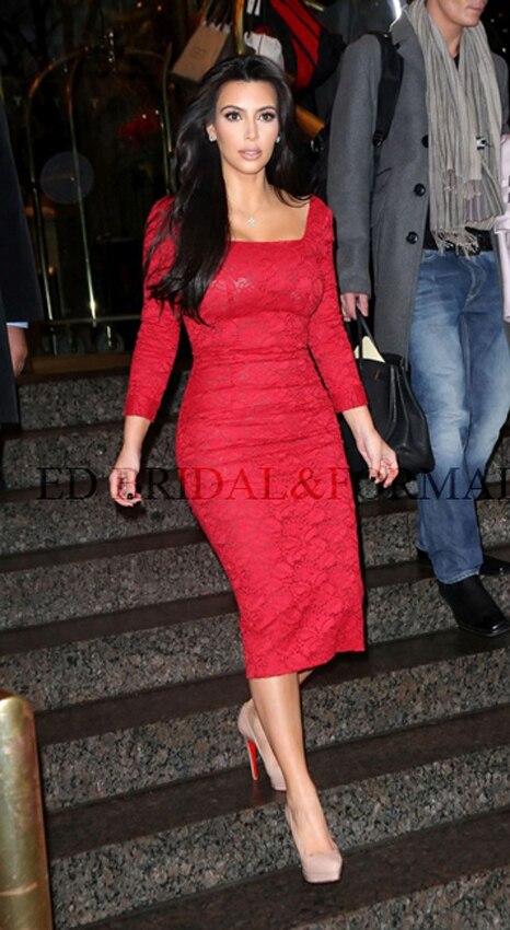 Robe rouge de kim kardashian