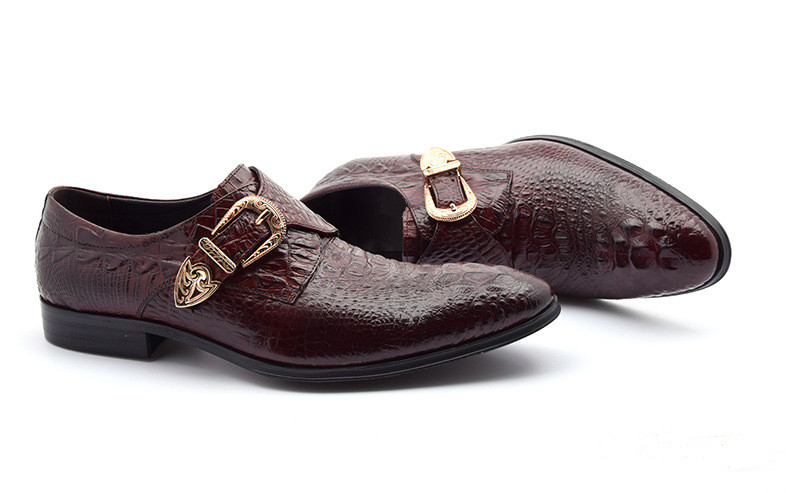 Wine Hombre Relieve Hebilla Negocios Calidad red Estrecha Black Punta Hombres En Oficina Zapatos Alta Lujo Para Vestido De Carrera Cuero Nueva Moda Trabajo EqpB0Bg