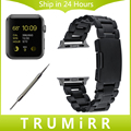 Stainless Steel Watchband + Adapter + Tool for iWatch Apple Watch Sport Edition 38mm Link Strap Wrist Belt Bracelet Black Silver