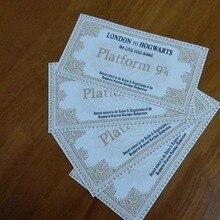Hogwarts школьные билетов 5 шт. один набор для детей Подарки к празднику Поттер поезд билетов девять и три четверти для билетов