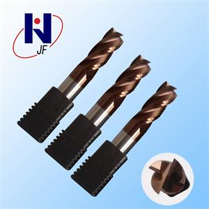 D4*10*D4*50*4T Solid carbide 4 flute flattened end mills with straight  shank milling cutter  HRC58 TiSiN Coated