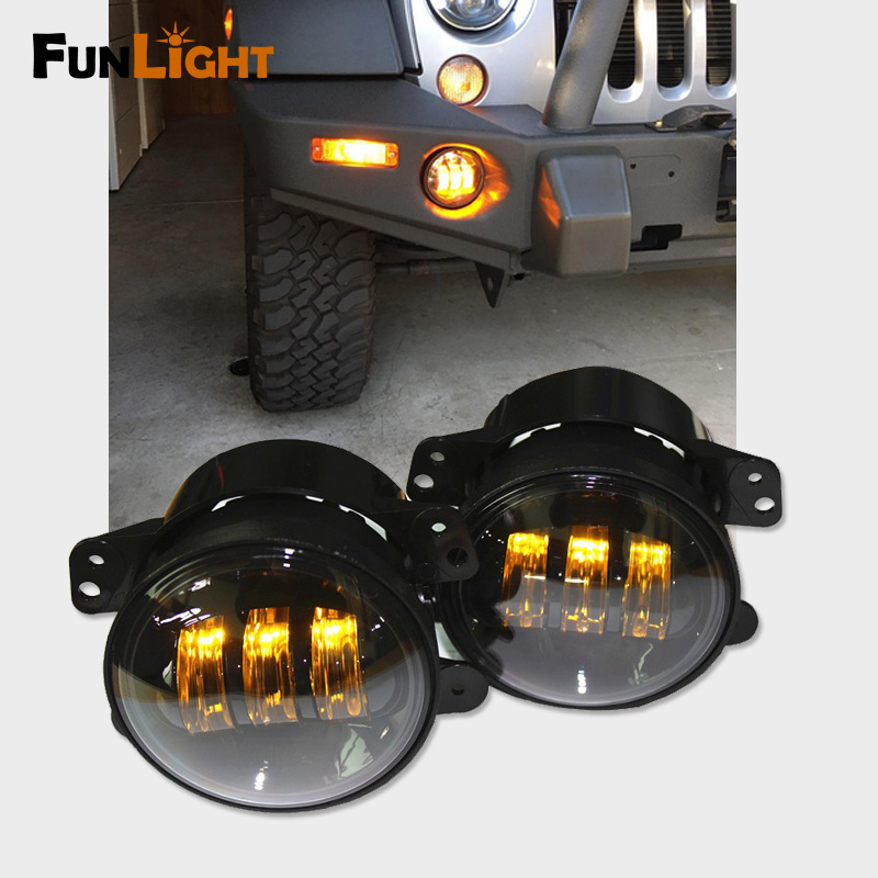 Jeep Jk Yellow Led Fog Lights