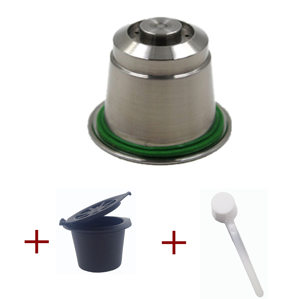 Stainless Steel Metal Refillable Nespresso Coffee Capsule Reusable Refills Pods Refilling Reusable Coffee capsulas