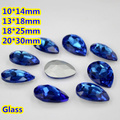 Sapphire Pear Teardrop Crystal Fancy Stone Point Back Glass Stone For DIY Jewelry Accessory.10*14mm 13*18mm 18*25mm 20*30mm