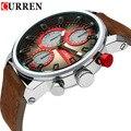 Hot Curren homens relógios de luxo analógico esporte militar relógio de quartzo relógios de pulso relogio masculino montre homme