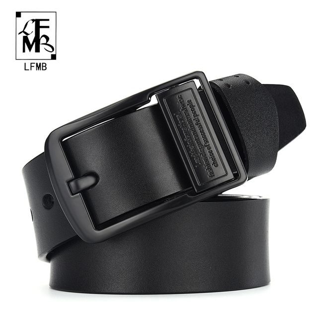 LFMB leahther belt men male genuine leather strap belt for men cow genuine leather luxury