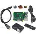 Raspberry Pi 3 Modelo B + Dissipador de Calor + 16 gb Cartão TF + Leitor de cartão + Cabo HDMI + fonte de Alimentação + Cabo De Alimentação para Pi3 Kit