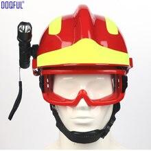 Segurança de trabalho resgate acidente capacete óculos cabeça-montado lanterna bombeiro trabalho construção cabeça olhos proteção capacete