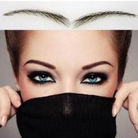 018 Free Shipping Women Style 100 Human Hair False Eyebrows With Lace Nature Looking Brown Color