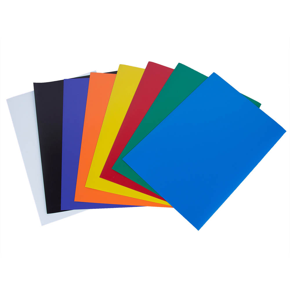 1 Pc 8 Farbe Gummi Magnet Selbst Klebe Flexible Magnetische Blatt A4 Größe 0,5mm Papier Magnetischen Aufkleber Kühlschrank Magnet Attraktive Mode