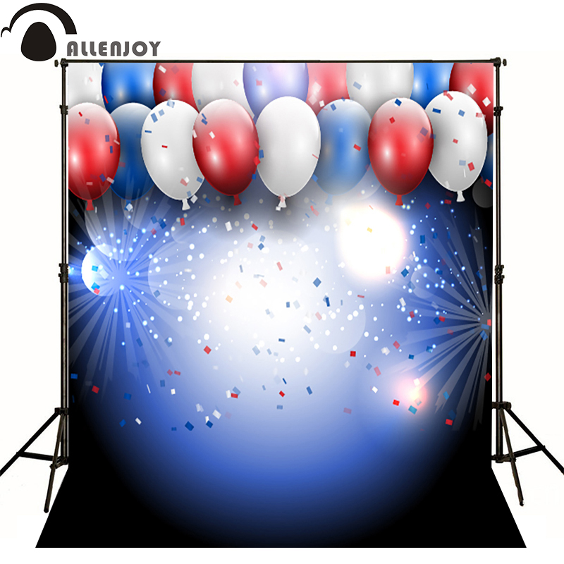 Allenjoy Photographic background balloon light Fireworks baby happy birthday party photography backdrops fotografia