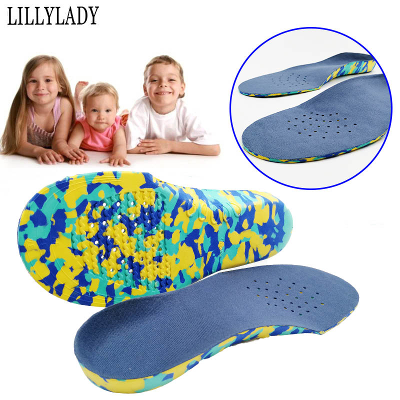 Children Orthotics Arch Support Corrected Insoles Full Length Orthopedic Pad Shoe Inserts For Flat Feet Sweat Absorbent Insoles