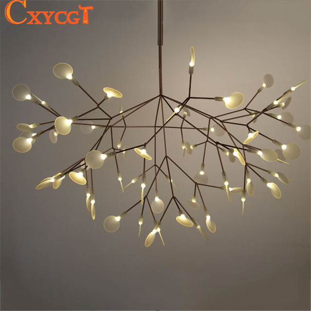 White Tree Branches Chandeliers Modern Suspension Hanging Light Metal Acrylic Decorative Pendant Led Lamp